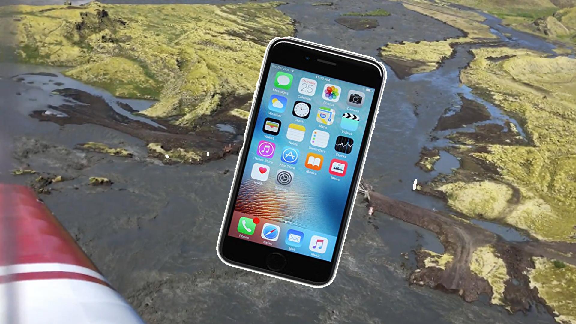 تجربة مريرة عاشها هاتف ipone 6s Plus لمدة سنة كاملة في البراري الأسيلندية بعد نجاتة من السقوط من علو 200 قدم