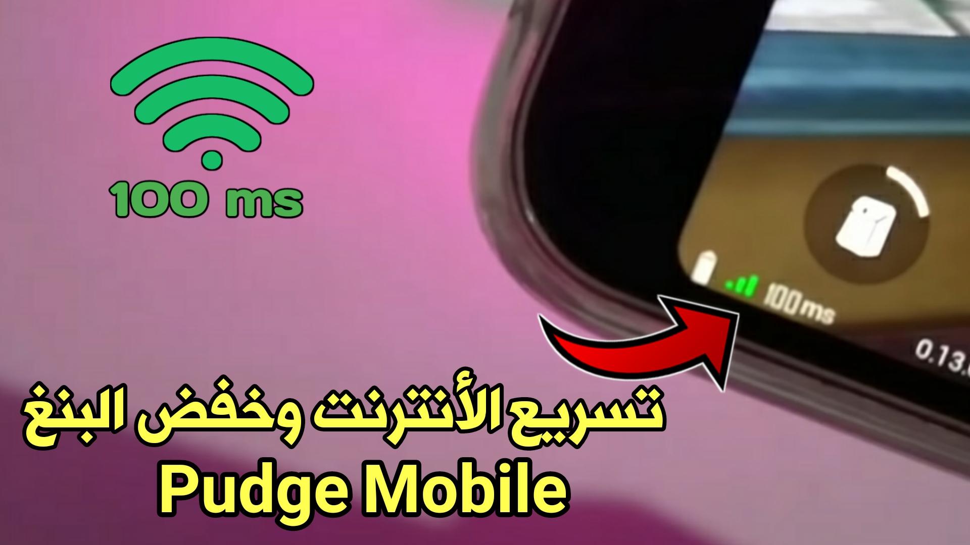 تسريع الأنترنت وخفض البنغ في لعبة pudge Mobile في العراق وجميع الدول العربية