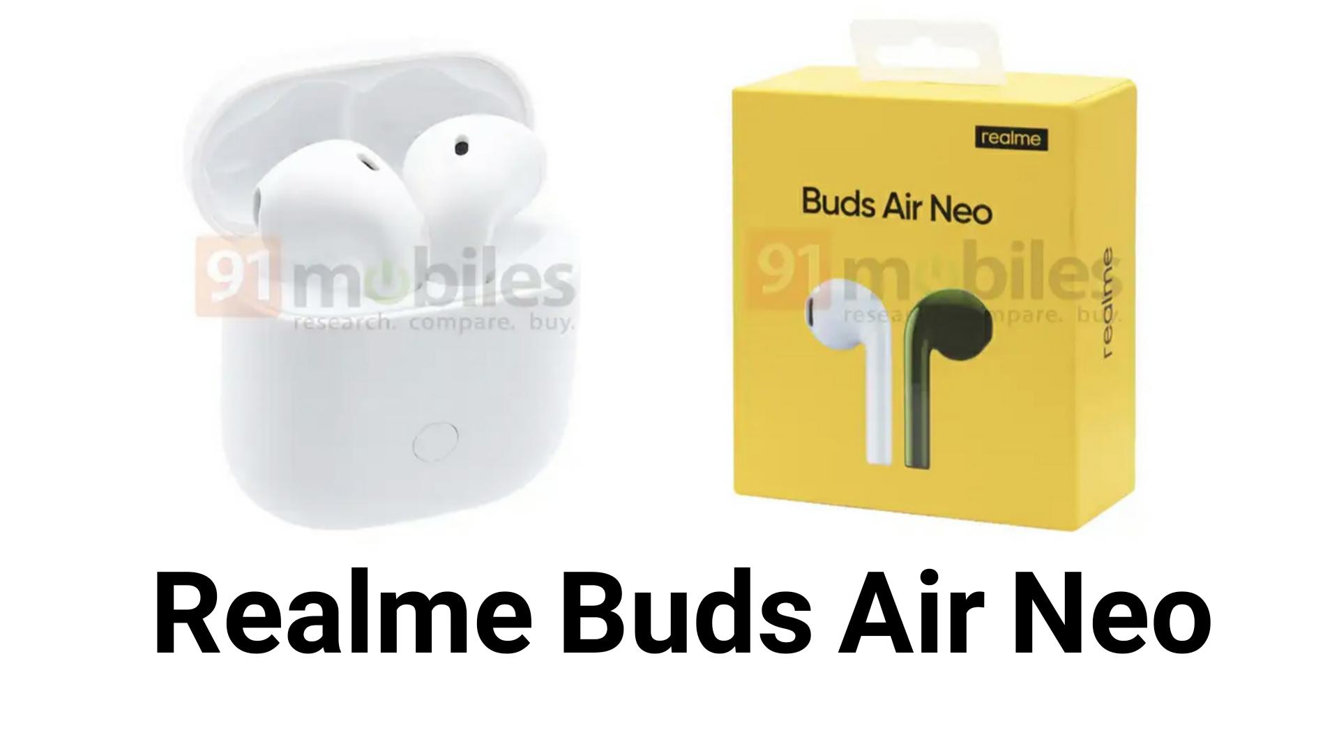تسريب صور سماعة Realme Buds Air Neo الأذن الاسلكية ! شحنها يدوم لمدة 17 ساعة !